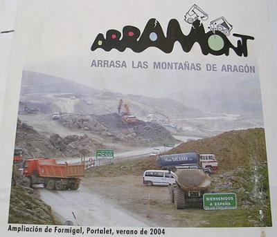 ARAMON, destruyendo la vida de los pueblos de montaña de Aragón